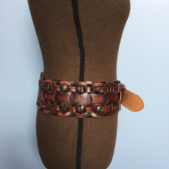 Accessories - Boho Braided Wide Leather Belt